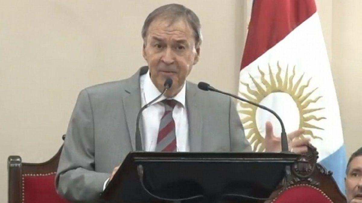 Schiaretti se descompuso durante su discurso en la apertura de las sesiones ordinarias de la Legislatura