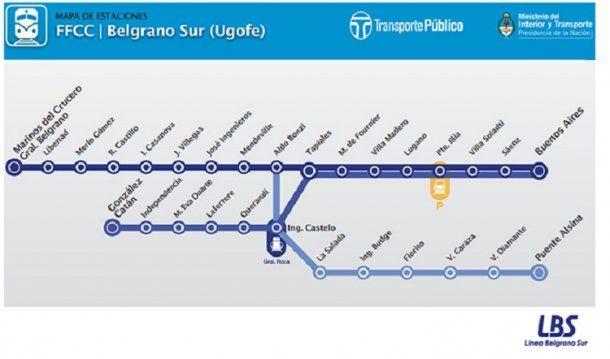 Recorrido del tren Belgrano