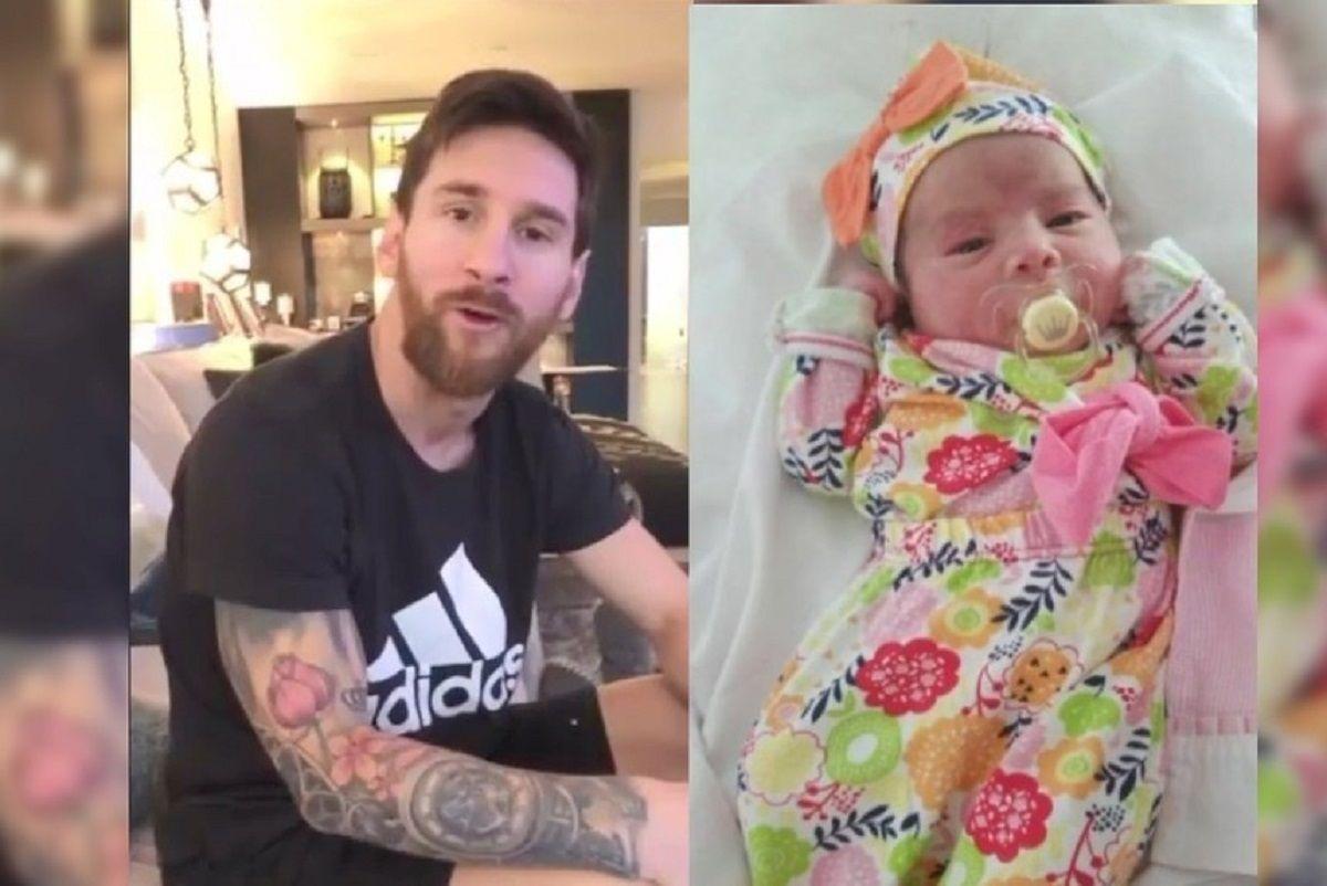 Messi le devolvió el gesto a una pareja que lo homenajeó de la manera menos esperada