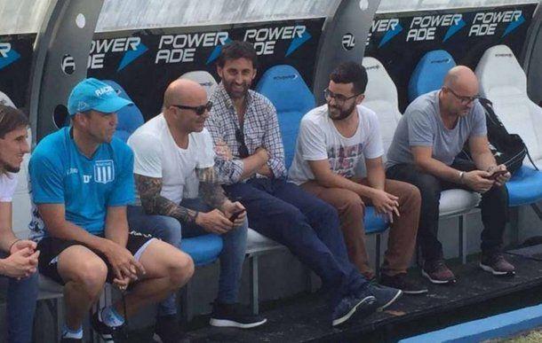 Sampaoli disfrutó su visita a Racing<br>