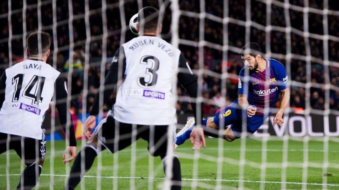 Luis Suárez marcó el único gol del partido