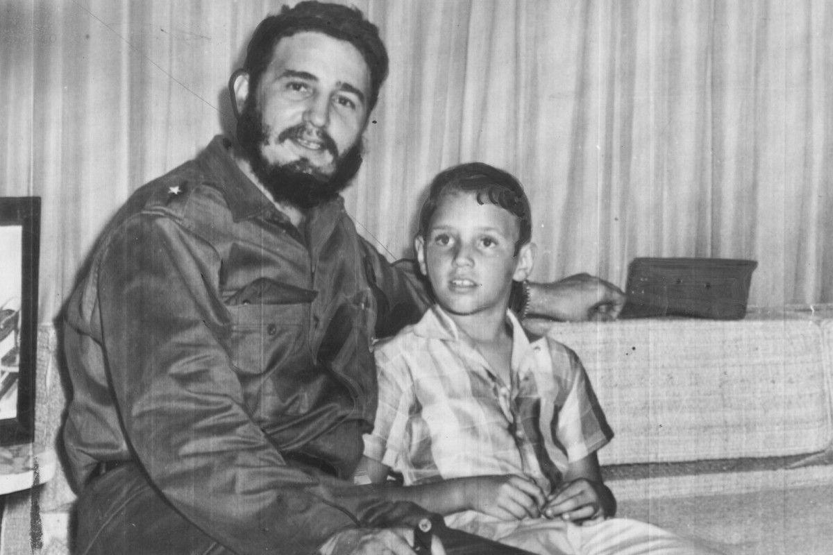 Fidel Ángel Castro Díaz-Balart y su padre