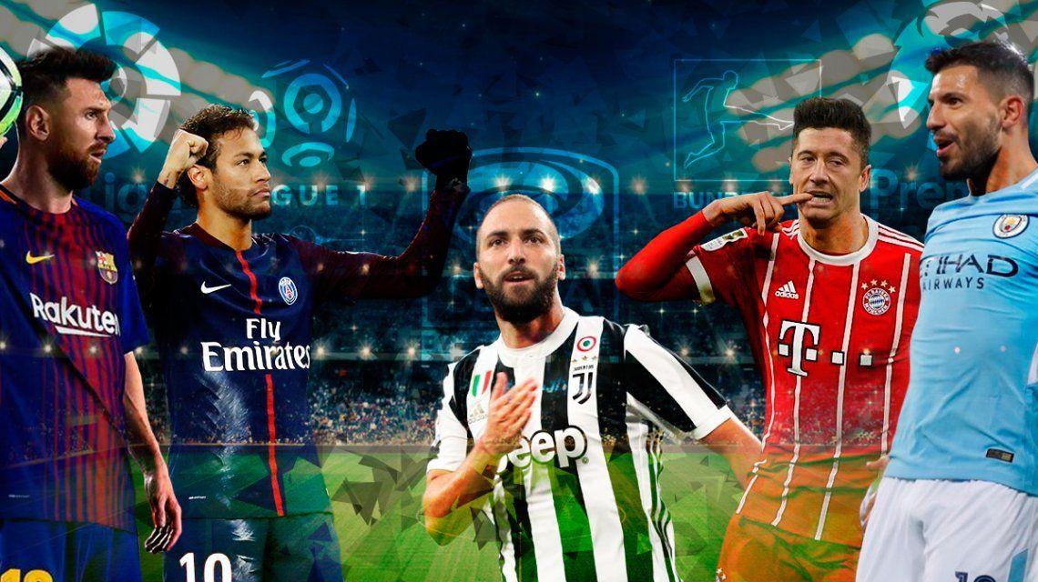 Con mucho por jugar, 4 de las 5 mejores ligas del mundo ya están casi definidas