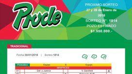 Boleta del Prode - Crédito:eltribuno.com