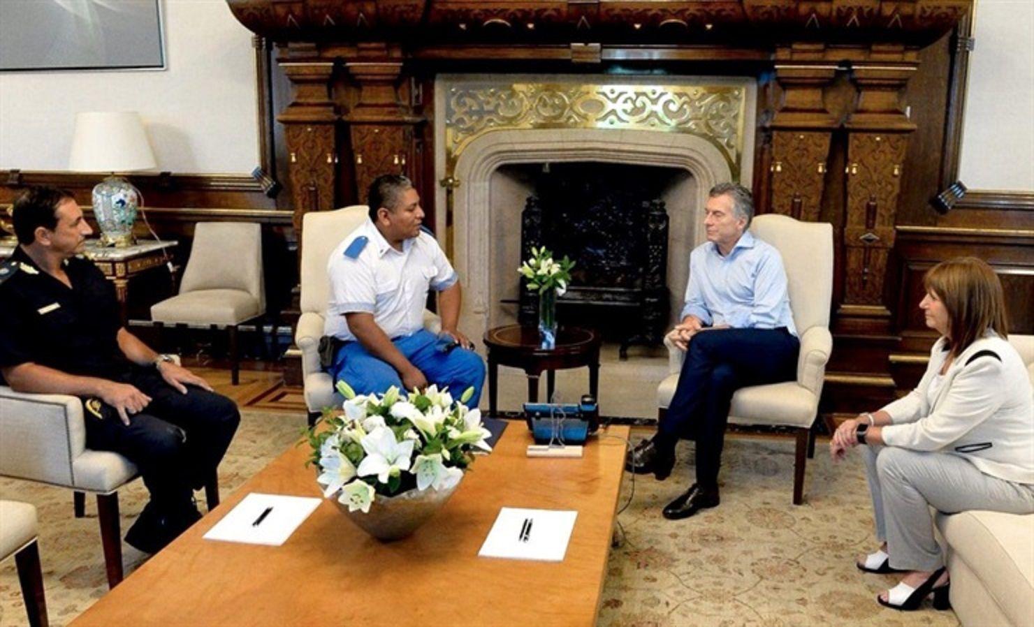 Mauricio Macri recibió a Chocobar