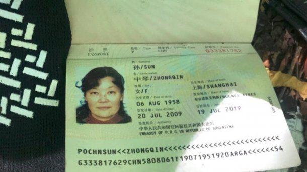 Este es el pasaporte de la ciudadana china perdida<br>