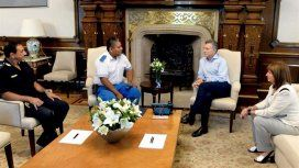 Mauricio Macri recibió a Chocobar, el policía que se encontraba de civil en la zona el día del ataque a Wolek.