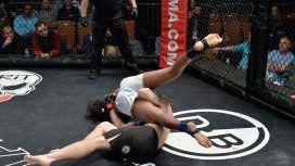 Se autonoqueó en una pelea de MMA - Crédito:Will Paul/CES MMA