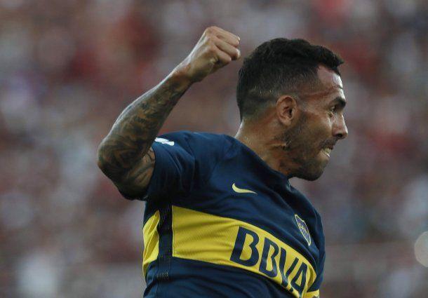 Gol de Tevez - Crédito: @BocaJrsOficial