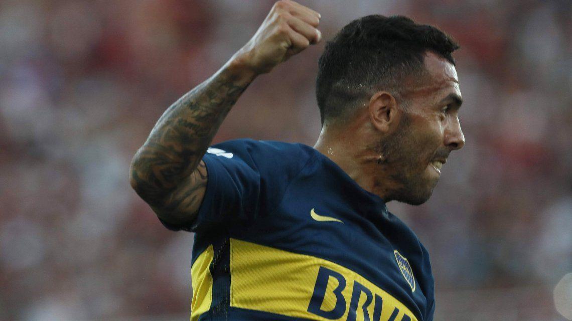 Gol de Tevez - Crédito:@BocaJrsOficial