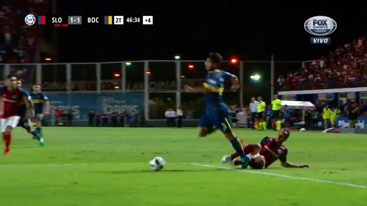 ¿Era penal? La jugada contra Mas que le podría haber dado la victoria a Boca sobre San Lorenzo