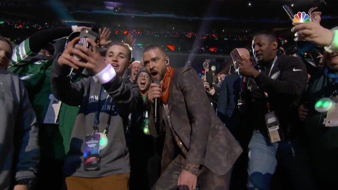 Justin Timberlake se tomó una selfie que dio la vuelta al mundo