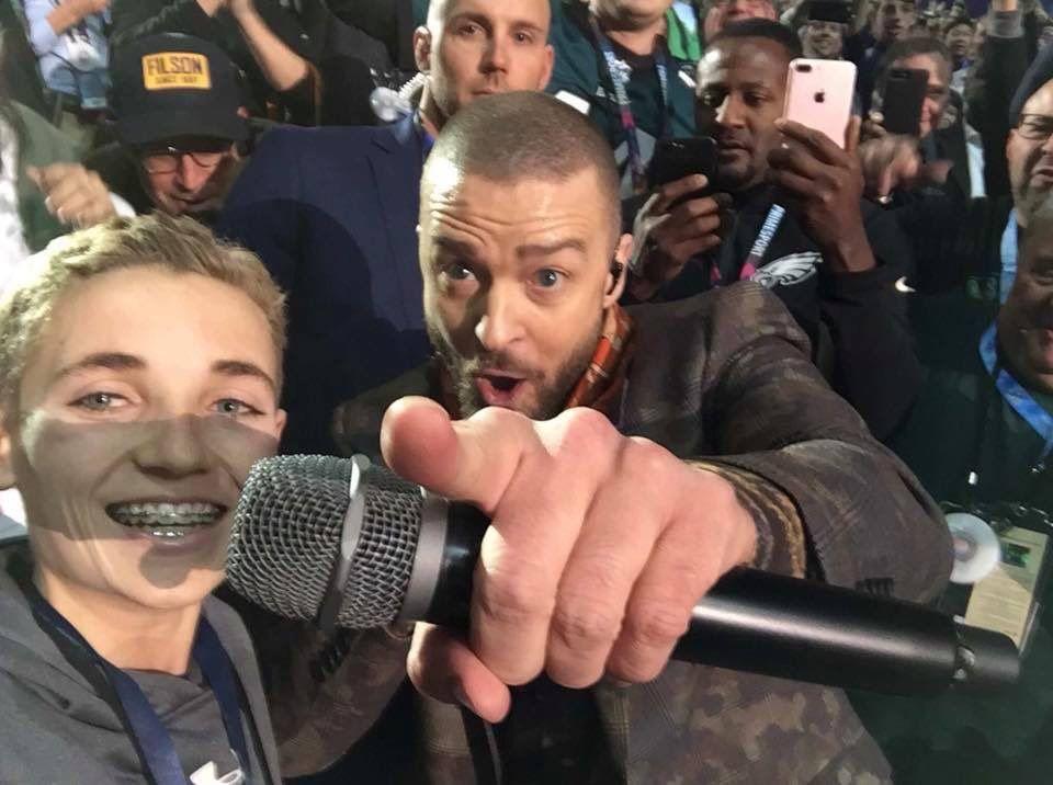 La selfie de Justin Timberlake