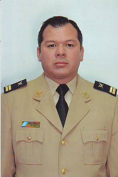 Ramón Javier Ávalos con su uniforme<br>