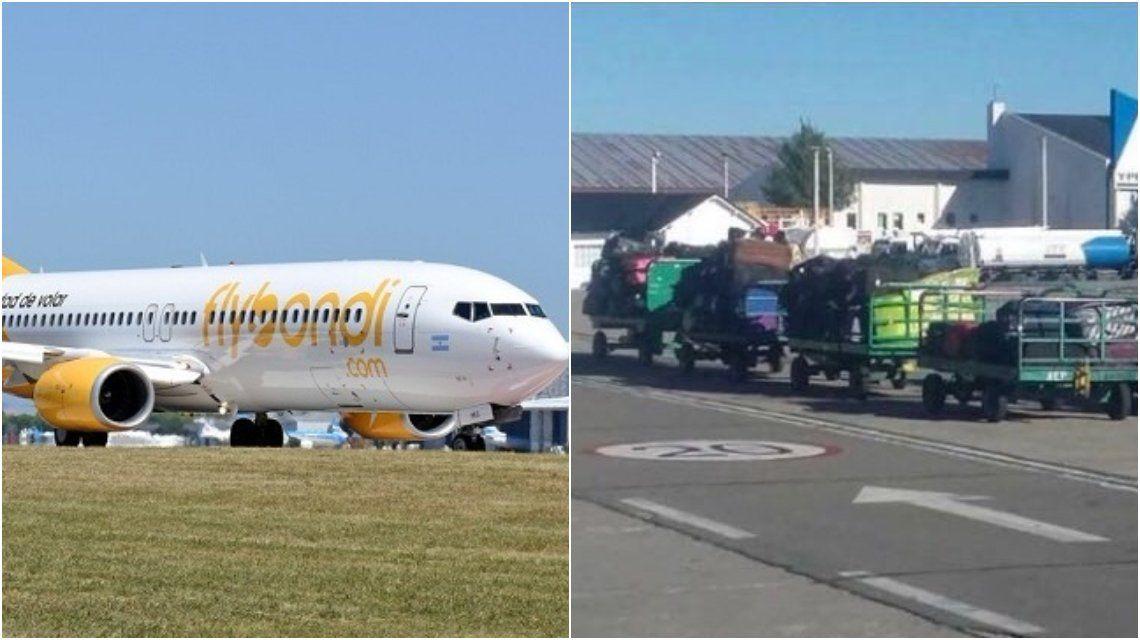 Nuevo problema con Flybondi: Denuncian que la low cost dejó valijas varadas a mitad de camino