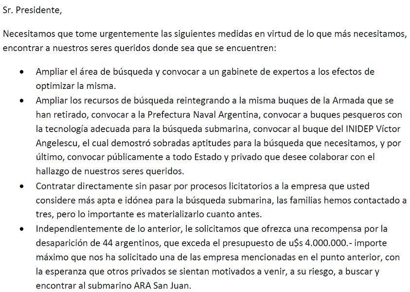 ¿Qué le exigirán los familiares del ARA San Juan a Mauricio Macri?