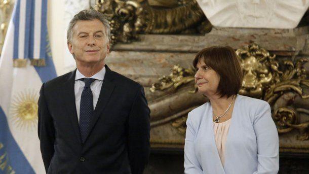 Mauricio Macri y Patricia Bullrich<br>