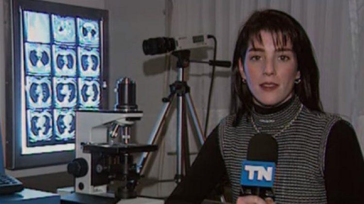 Una de las primeras apariciones de Débora Pérez Volpin en la TV