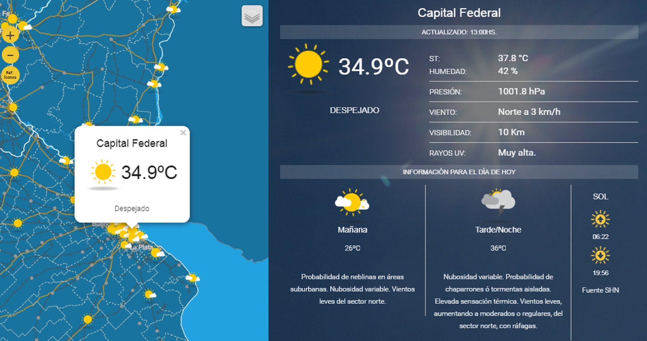 La Ciudad, insoportable: la sensación térmica rozó los 40° ¿y las lluvias?