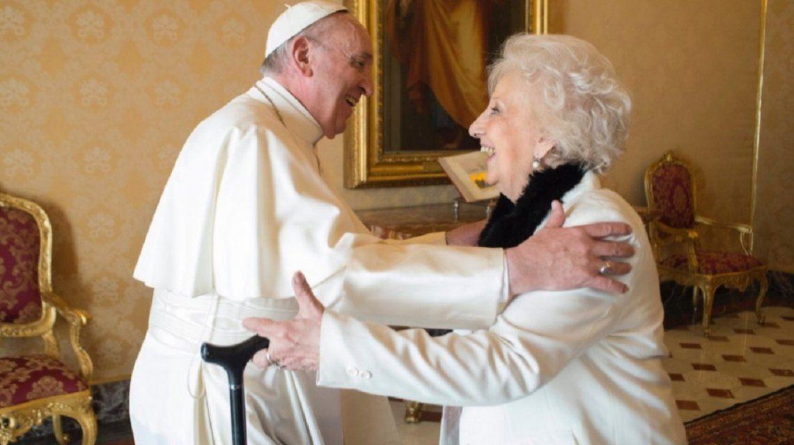 El papa Francisco recibió a Estela de Carlotto en el Vaticano - Crédito:Vatican Media
