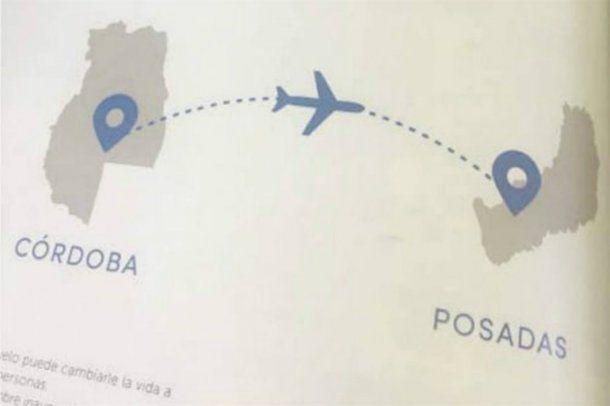 El error geográfico de Aerolíneas no pasó desapercibido