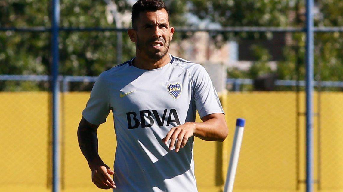 Carlos Tevez en la práctica de Boca - Crédito: Facebook Boca