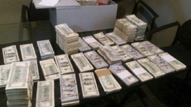 El dinero incautado a Marcelo Balcedo<br>