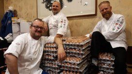 Huevos en la Villa Olímpica para Noruega