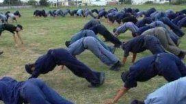 Entrenamiento en la escuela de Policías de La Rioja