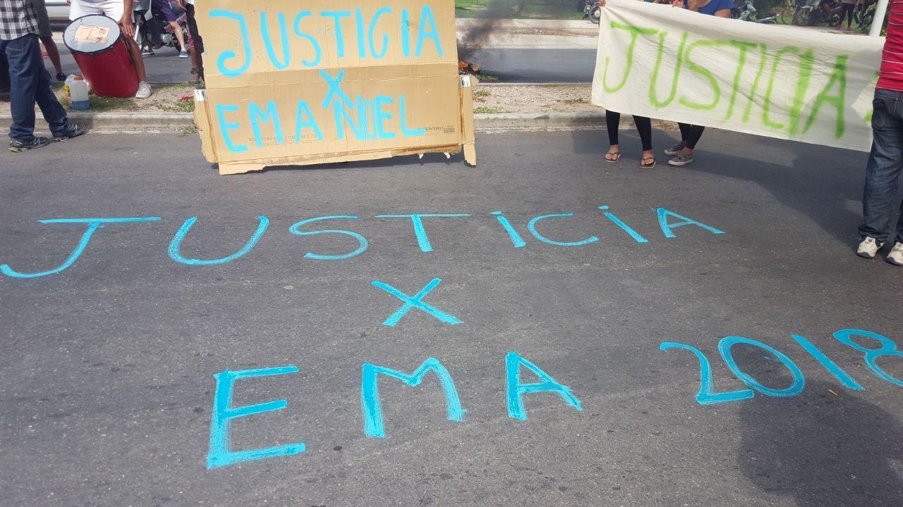 Protesta por la muerte del cadete en La Rioja - Crédito:elindependiente.com.ar