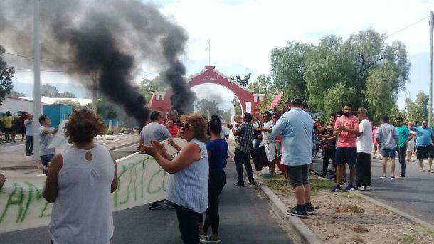 Protesta por la muerte del cadete en La Rioja - Crédito: elindependiente.com.ar