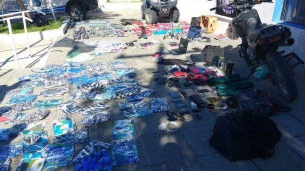 Incautaron mercadería robada de Las Grutas - Crédito: lmneuquen.com