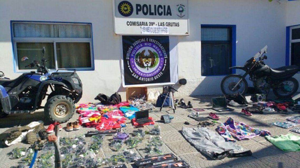 Incautaron mercadería robada de Las Grutas - Crédito:lmneuquen.com