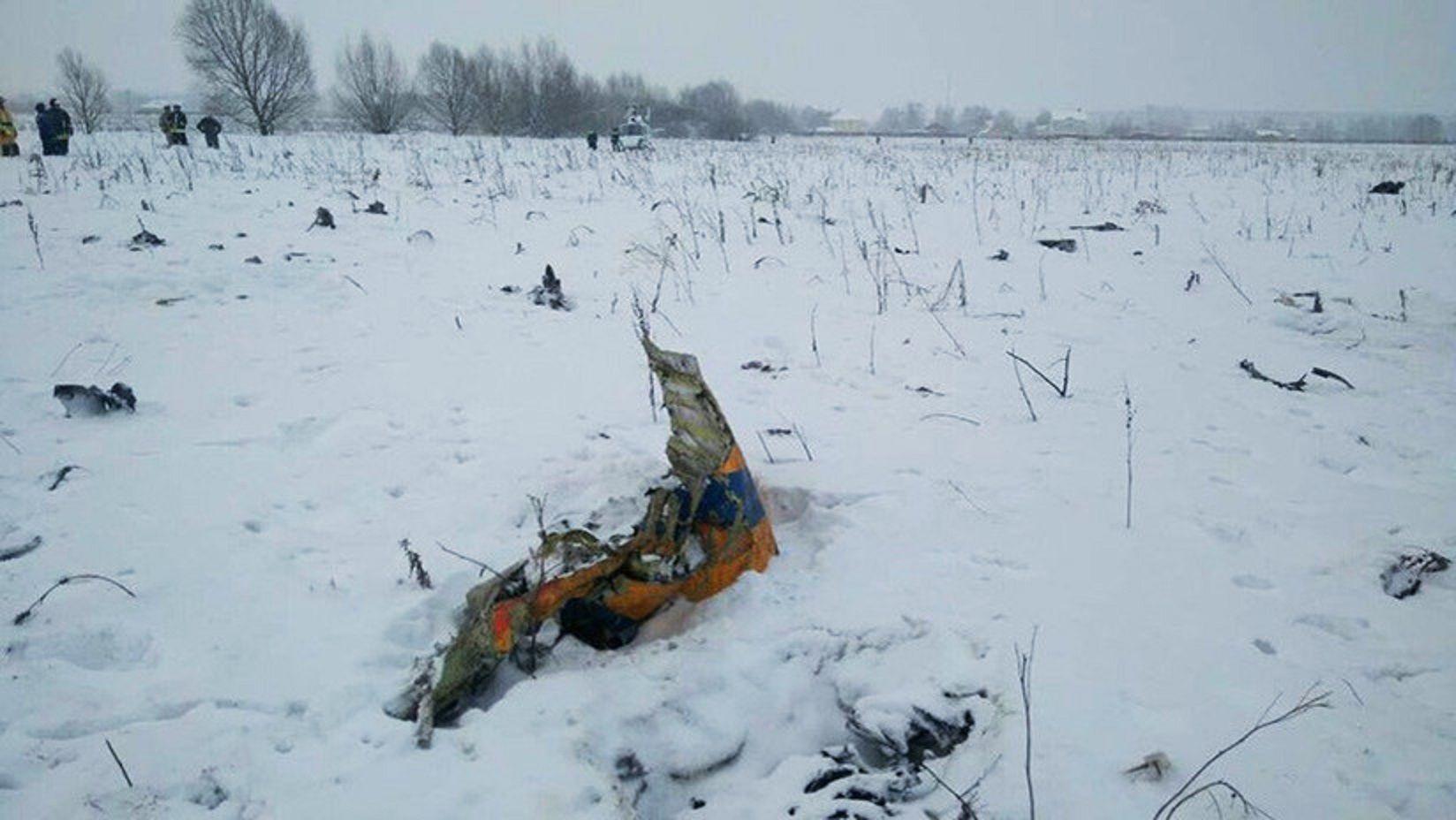 VIDEO: Así quedó el avión que se estrelló en Rusia