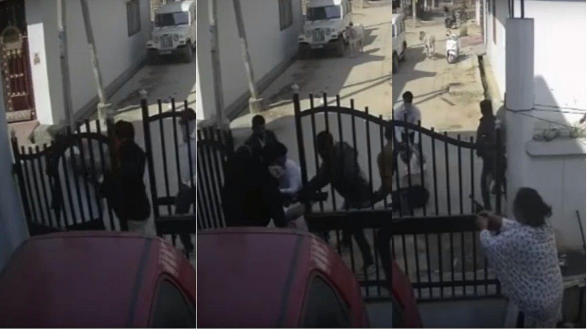 VIDEO: Una patota lo atacó en la puerta de su casa y la mujer lo salvó a los tiros
