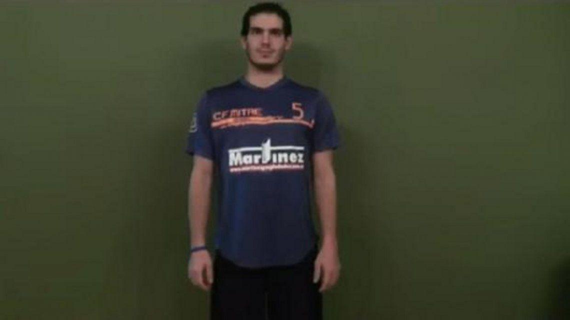Encontraron muerto al jugador de handballAugusto Germán Cozzi