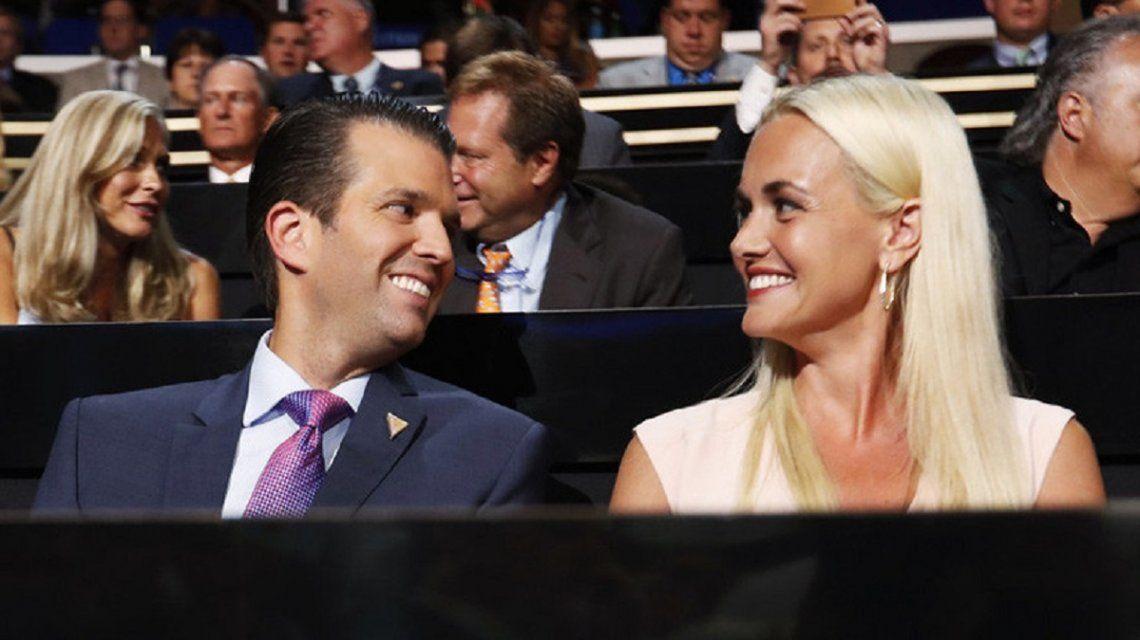 Donald Trump Jr y su esposa Vanessa.