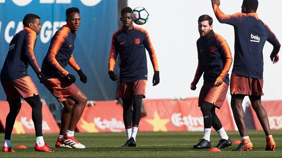 El video en el que Messi deja en ridículo a varios de sus compañeros en una práctica