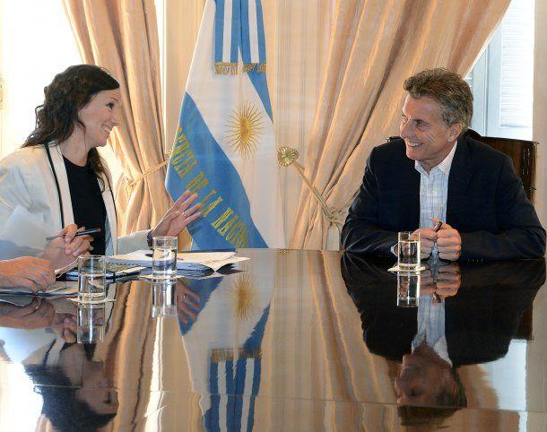 Carolina Stanley y Mauricio Macri<br>