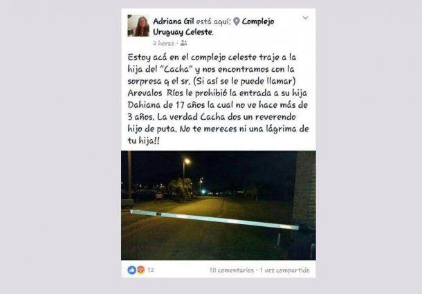 El escrcache que sufrió en las redes sociales el uruguayo<br>