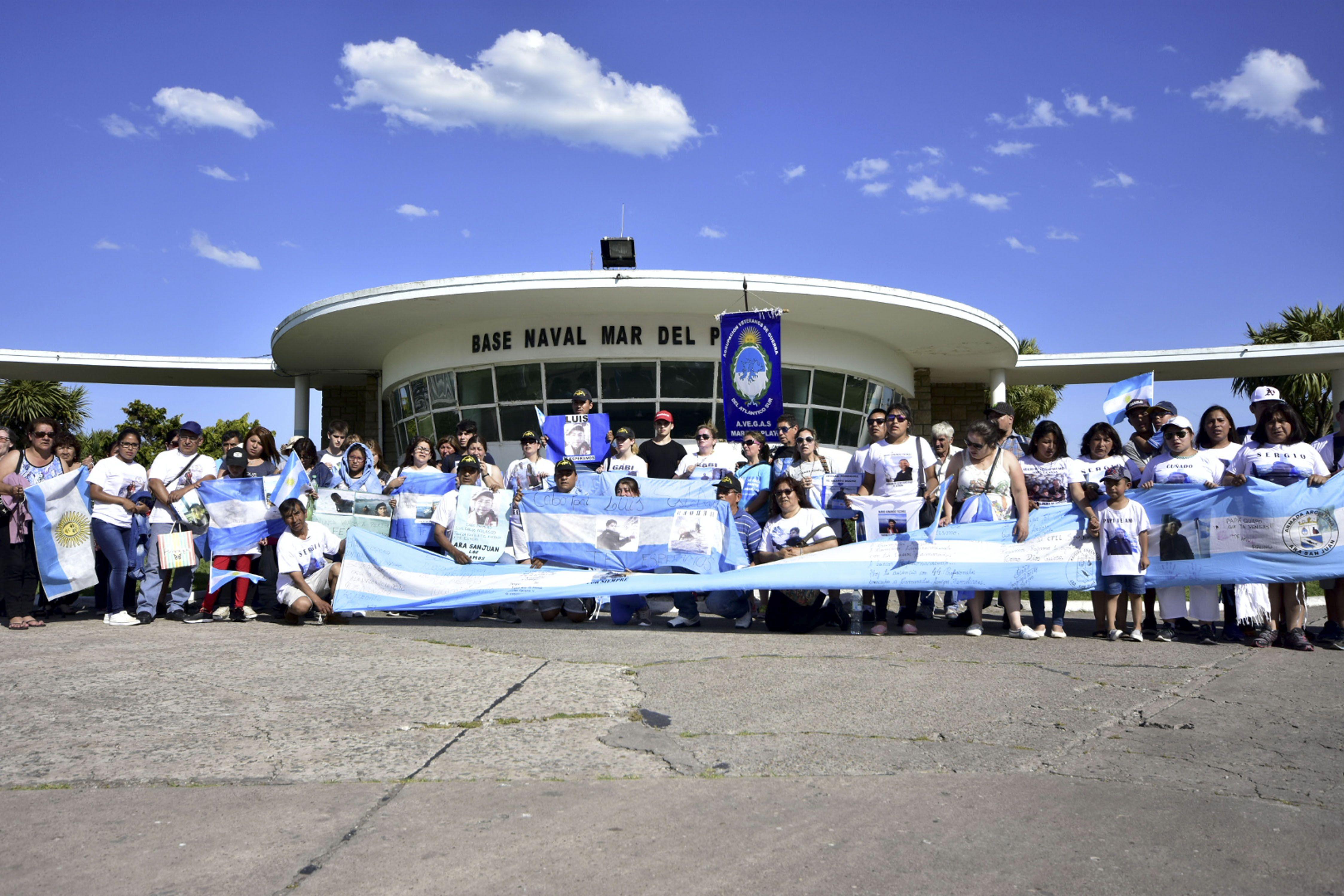 Familliares de tripulantes del ARA San Juan