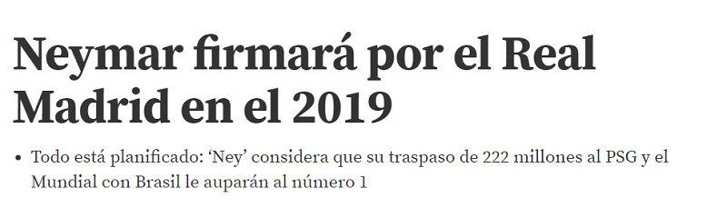 Neymar al Real Madrid: el plan que llevará al brasileño al Merengue
