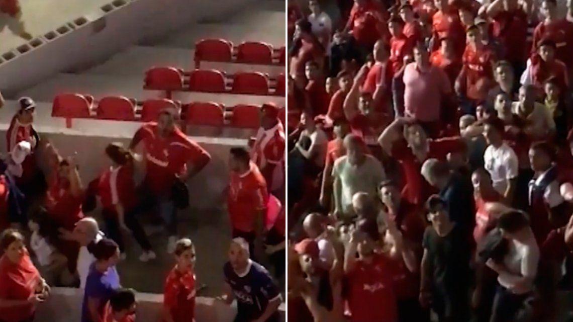 VIDEO: Hinchas de Independiente se burlaron de los de Gremio con gestos repudiables