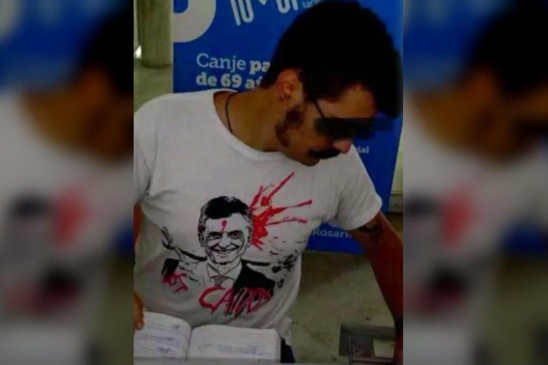 A la Justicia: Cambiemos denunció al empleado que fue a trabajar con la remera de Macri baleado