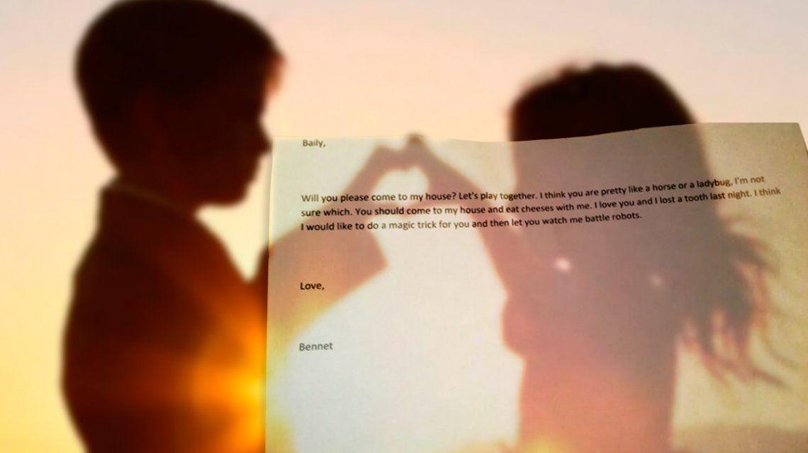 Te quiero y perdí un diente anoche: la tierna carta de amor de un nene de 4 años