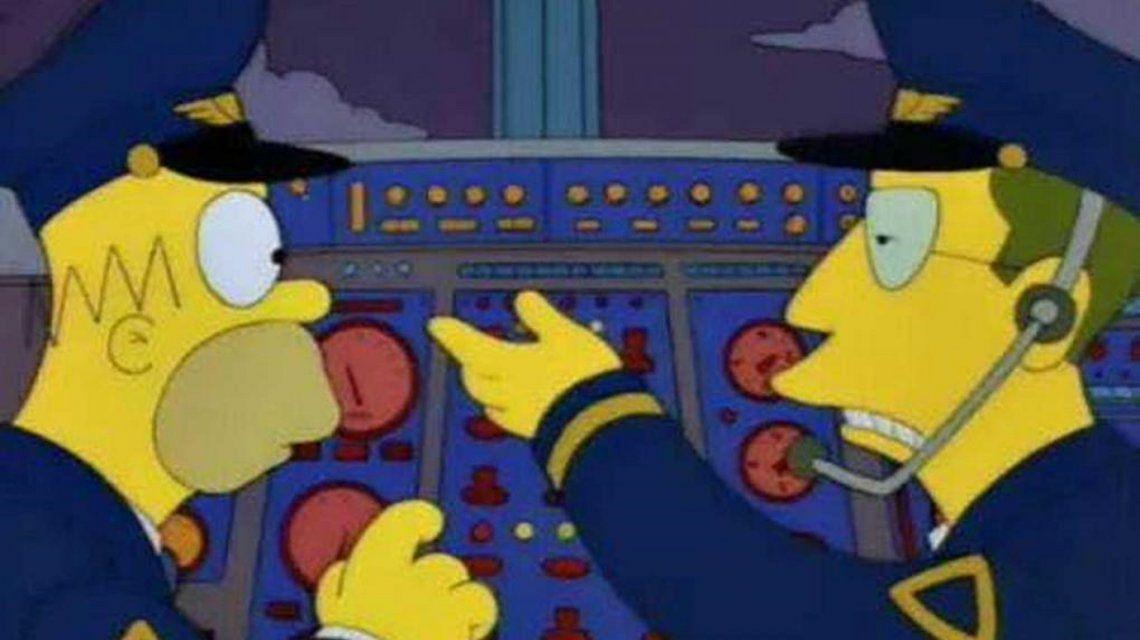 Homero Simpson está en la Argentina y así sorprendió a los pasajeros de un vuelo de Aerolíneas Argentinas