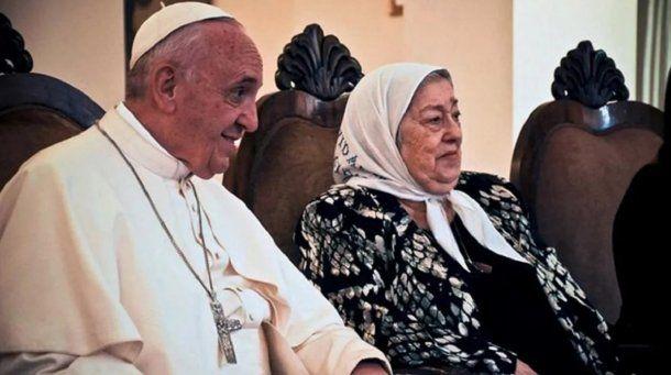 Hebe de Bonafini y el papa Francisco