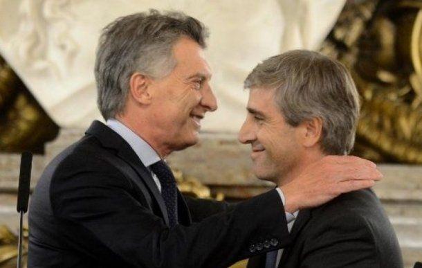 Mauricio Macri y Luis Caputo<br>