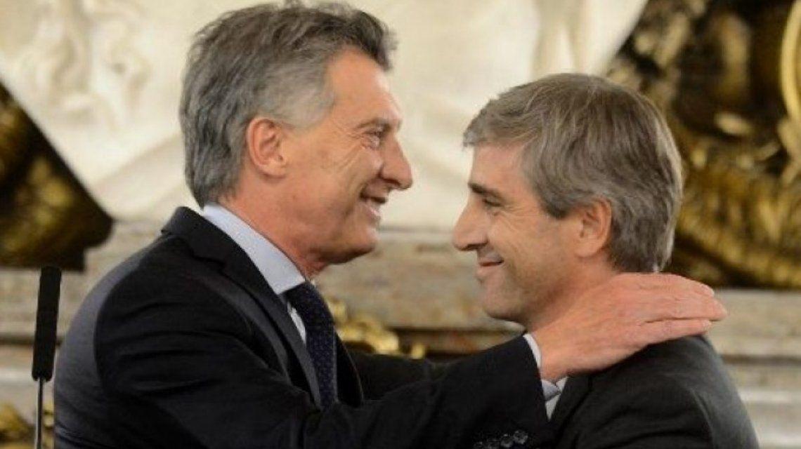 Mauricio Macri y Luis Caputo