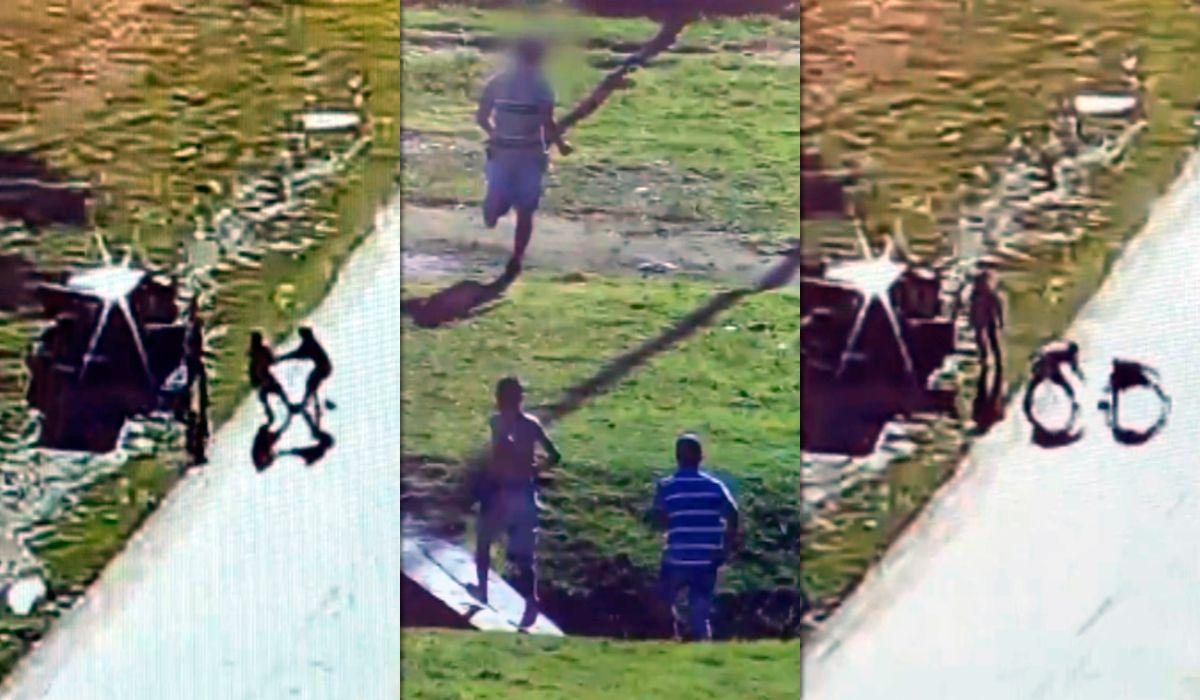 Paró en la General Paz para revisar el auto y lo asaltaron: todo quedó grabado